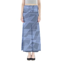 Lines Shapes Pattern Web Creative Maxi Skirts