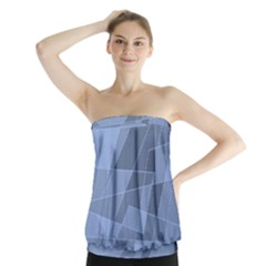 Lines Shapes Pattern Web Creative Strapless Top