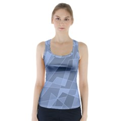 Lines Shapes Pattern Web Creative Racer Back Sports Top