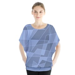Lines Shapes Pattern Web Creative Blouse