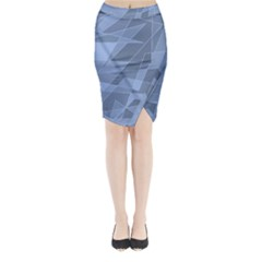 Lines Shapes Pattern Web Creative Midi Wrap Pencil Skirt