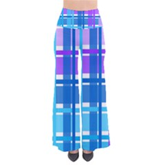 Gingham Pattern Blue Purple Shades Pants