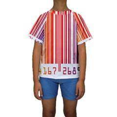 Code Data Digital Register Kids  Short Sleeve Swimwear