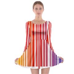 Code Data Digital Register Long Sleeve Skater Dress
