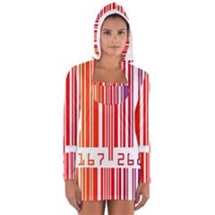 Code Data Digital Register Women s Long Sleeve Hooded T Shirt