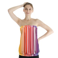 Code Data Digital Register Strapless Top