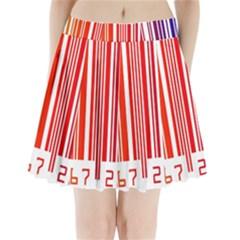 Code Data Digital Register Pleated Mini Skirt