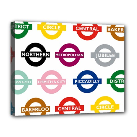 Underground Signs Tube Signs Canvas 14  X 11