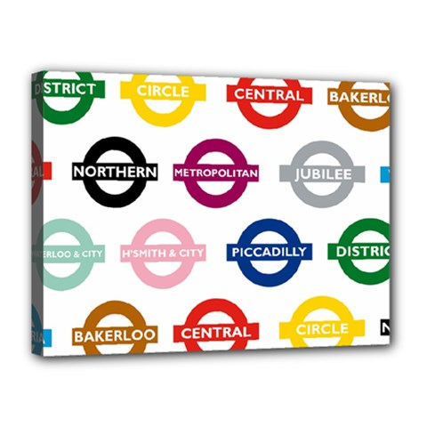 Underground Signs Tube Signs Canvas 16  X 12