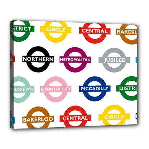 Underground Signs Tube Signs Canvas 20  X 16