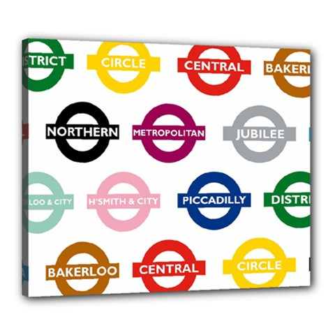 Underground Signs Tube Signs Canvas 24  X 20
