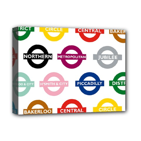 Underground Signs Tube Signs Deluxe Canvas 16  X 12