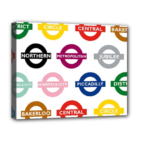 Underground Signs Tube Signs Deluxe Canvas 20  X 16