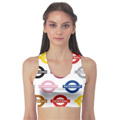 Underground Signs Tube Signs Sports Bra