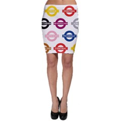 Underground Signs Tube Signs Bodycon Skirt