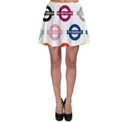 Underground Signs Tube Signs Skater Skirt