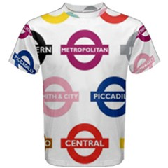 Underground Signs Tube Signs Men s Cotton Tee