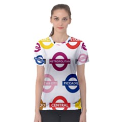 Underground Signs Tube Signs Women s Sport Mesh Tee