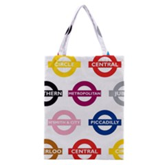Underground Signs Tube Signs Classic Tote Bag