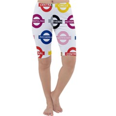 Underground Signs Tube Signs Cropped Leggings