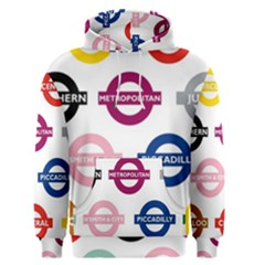 Underground Signs Tube Signs Men s Pullover Hoodie