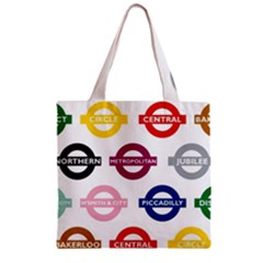 Underground Signs Tube Signs Zipper Grocery Tote Bag