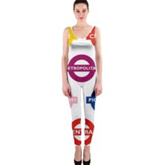 Underground Signs Tube Signs Onepiece Catsuit