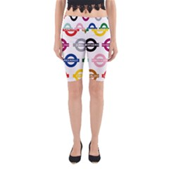Underground Signs Tube Signs Yoga Cropped Leggings