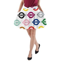Underground Signs Tube Signs A Line Pocket Skirt