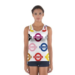 Underground Signs Tube Signs Women s Sport Tank Top