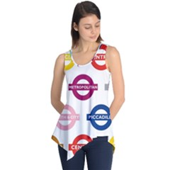 Underground Signs Tube Signs Sleeveless Tunic
