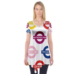Underground Signs Tube Signs Short Sleeve Tunic