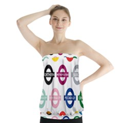 Underground Signs Tube Signs Strapless Top
