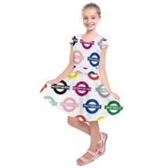 Underground Signs Tube Signs Kids  Short Sleeve Dress
