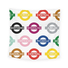 Underground Signs Tube Signs Square Tapestry (small)