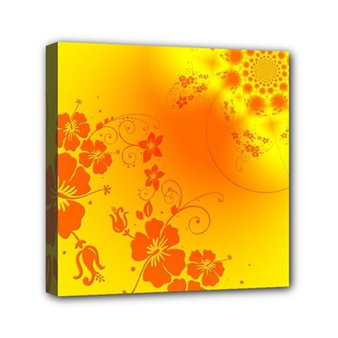 Flowers Floral Design Flora Yellow Mini Canvas 6  X 6