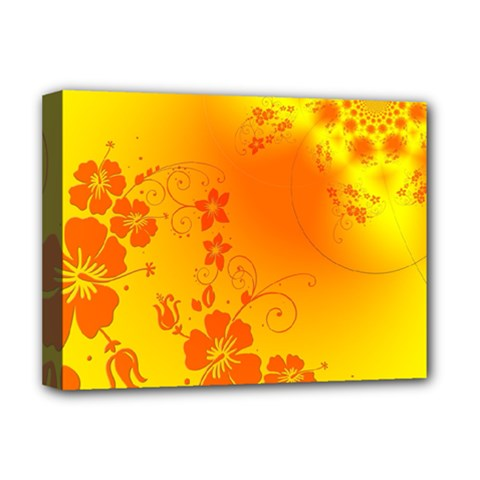 Flowers Floral Design Flora Yellow Deluxe Canvas 16  X 12