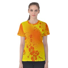 Flowers Floral Design Flora Yellow Women s Cotton Tee