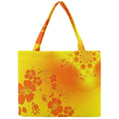 Flowers Floral Design Flora Yellow Mini Tote Bag