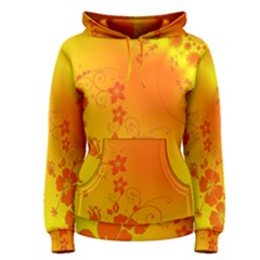 Flowers Floral Design Flora Yellow Women s Pullover Hoodie