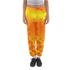Flowers Floral Design Flora Yellow Women s Jogger Sweatpants