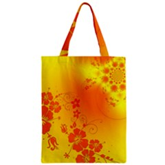 Flowers Floral Design Flora Yellow Zipper Classic Tote Bag