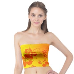 Flowers Floral Design Flora Yellow Tube Top