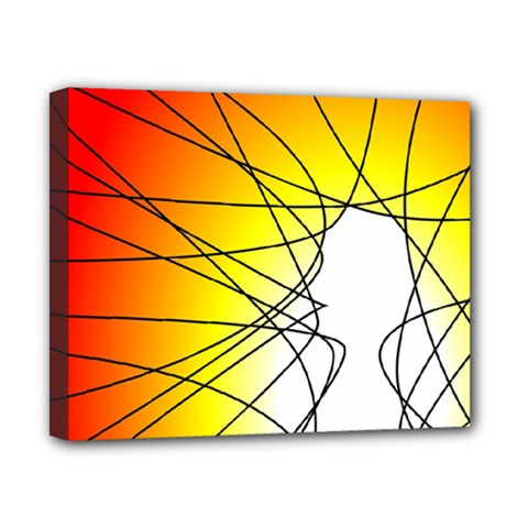 Spirituality Man Origin Lines Canvas 10  x 8