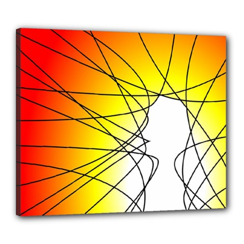 Spirituality Man Origin Lines Canvas 24  x 20