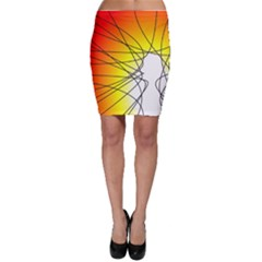 Spirituality Man Origin Lines Bodycon Skirt
