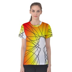 Spirituality Man Origin Lines Women s Cotton Tee