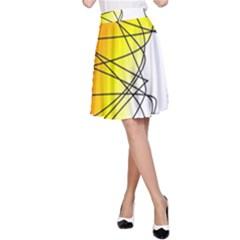 Spirituality Man Origin Lines A Line Skirt