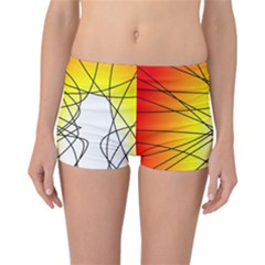 Spirituality Man Origin Lines Reversible Bikini Bottoms