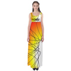 Spirituality Man Origin Lines Empire Waist Maxi Dress